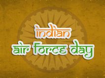 Illustration of Indian Airforce Day Background. Illustration of elements of Indian Airforce Day Background Royalty Free Stock Photos