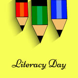 Illustration of literacy Day Background Stock Photo