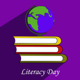 Illustration of literacy Day Background Royalty Free Stock Images