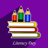 Illustration of literacy Day Background Stock Image