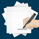 Illustration of literacy Day Background Royalty Free Stock Photo