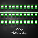 Illustration of Nigeria National Day background. Illustration of elements of Nigeria National Day background Royalty Free Stock Image