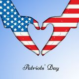Illustration of Patriot Day background. Illustration of elements of Patriot Day background Royalty Free Stock Images
