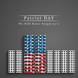 Illustration of Patriot Day background. Illustration of elements of Patriot Day background Royalty Free Stock Photography