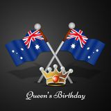Illustration of Queen`s Birthday Background. Illustration of elements of Queen`s Birthday Background Stock Images