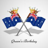 Illustration of Queen`s Birthday Background. Illustration of elements of Queen`s Birthday Background Stock Photography