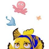 Illustration Elements Set: Fishes. Royalty Free Stock Photo