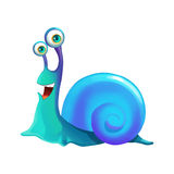 Illustration: Elements Set: Happy Snail. Stock Photo