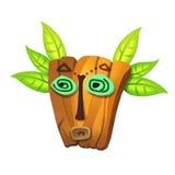 Illustration: Elements Set: Maya Mask. Royalty Free Stock Images
