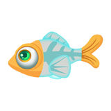 Illustration: Elements Set: X-Ray Fish. Fantastic Realistic Cartoon Life Style Stock Images