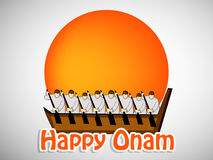 Illustration of South Indian Festival Onam background Stock Photography