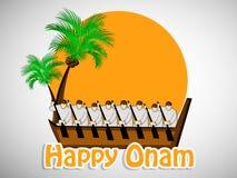 Illustration of South Indian Festival Onam background Royalty Free Stock Photos
