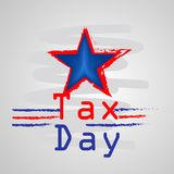 Illustration of U.S.A Tax Day background. Illustration of elements of U.S.A Tax Day background royalty free illustration