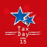 Illustration of U.S.A Tax Day background. Illustration of elements of U.S.A Tax Day background stock illustration
