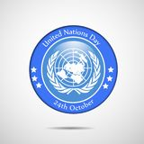 Illustration of United Nations Day Background royalty free illustration