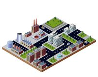 Illustration. With elements of urban and industrial buildings