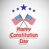 Illustration of USA Constitution Day Background. Illustration of elements of USA Constitution Day background stock illustration