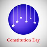 Illustration of USA Constitution Day Background Royalty Free Stock Image