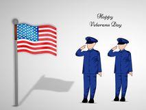 Illustration of Veterans Day Background Royalty Free Stock Image