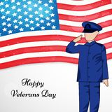 Illustration of Veterans Day Background Royalty Free Stock Images