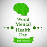 Illustration of World Mental Health Day Background. Illustration of elements of World Mental Health Day Background vector illustration