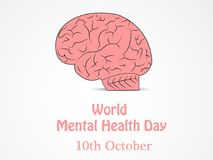 Illustration of World Mental Health Day Background. Illustration of elements of World Mental Health Day Background royalty free illustration