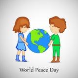 Illustration of World Peace Day Background royalty free illustration