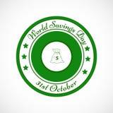 Illustration of World Saving Day Background. Illustration of elements of World Saving Day Background Stock Photo