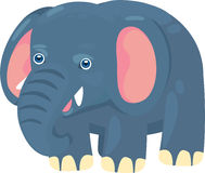 Illustration elephant. On background white Stock Images