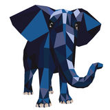 Illustration elephant polygon Royalty Free Stock Image