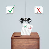 Illustration of eletcion voting Royalty Free Stock Photography