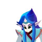 Illustration: The Elf Queen. Stock Photo
