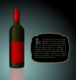 Illustration the elite wine bottle Royalty Free Stock Photo