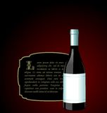 Illustration the elite wine bottle Royalty Free Stock Photos