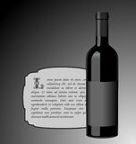 Illustration the elite wine bottle Stock Image