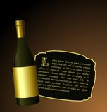Illustration the elite wine bottle Stock Images