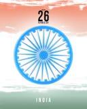 Illustration eller bakgrund för 26 Januari, republikdag Indien royaltyfri illustrationer