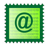 Illustration of an email stamp Stock Photos