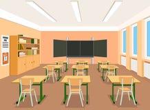 Illustration of an empty classroom royalty free illustration