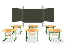 Vector illustration of an empty classroom Stock Photos