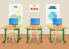 Illustration of an empty classroom Royalty Free Stock Images