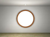 Illustration of a empty gallery with a round frame Stock Images