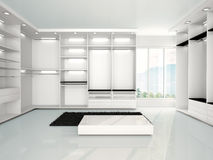 Illustration of empty modern wardrobe. 3d illustration of empty modern wardrobe Royalty Free Stock Images