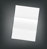 Illustration Empty Paper Sheet with Shadows Stock Photo
