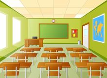 Empty school classroom Stock Illustration