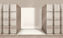 Illustration of empty shelf Stock Image