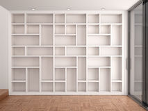 Illustration of Empty shelves Stock Images