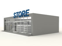 Illustration of empty store Royalty Free Stock Photos