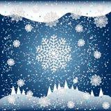 Illustration en baisse de vecteur de neige pour la conception d'hiver Photographie stock
