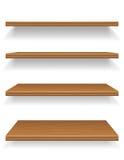 Illustration en bois de vecteur d'étagères Images stock